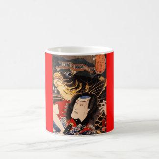 C. de pintura japonesa 1800's taza básica blanca