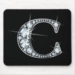 """C"" Diamond Bling Mousepad"