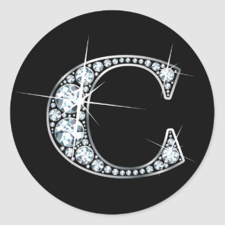 """C"" Diamond Bling Sticker"