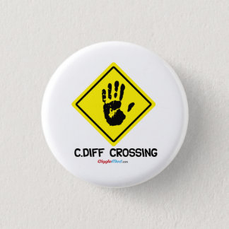 C. Diff Crossing Sign Pinback Button