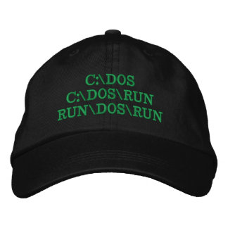 C:\DOS C:\DOS\RUN RUN\DOS\RUN Funny Computer Joke Embroidered Baseball Hat