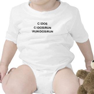 C DOS RUN T-SHIRT 3XL funny geek nerd programming