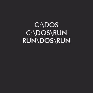 C:\DOS shirt