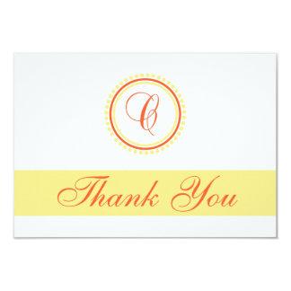 C Dot Circle Monogam Thank You (Orange / Yellow) Card