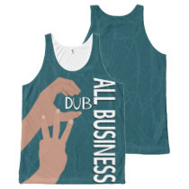 C Dub All Business All-Over Printed Unisex Tank