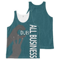 C Dub All Business BW All-Over-Print Tank Top