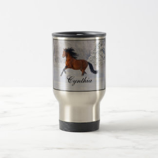 C.E. Beautiful Horse Travel Mug