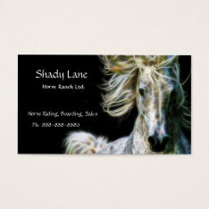 C.e. Horse Ranch Business Card at Zazzle