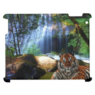 timeless design f508d 016f9 C.E. Tiger By Jungle Falls Art ipad Phone Case iPad Case