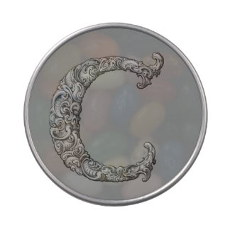 C - El alfabeto de Falck (plateado) Latas De Caramelos