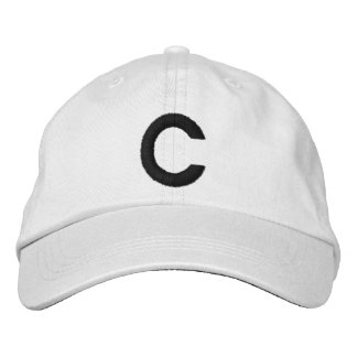C EMBROIDERED BASEBALL CAPS