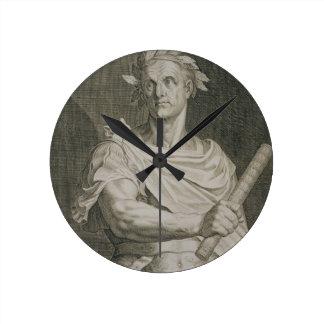 C emperador de Julio César 100-44 A C del engr Relojes De Pared