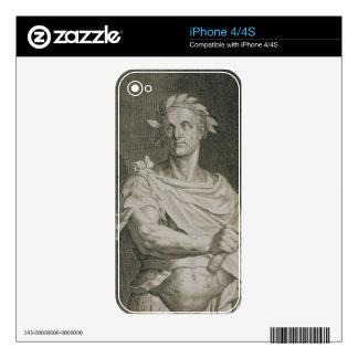 C. emperador de Julio César (100-44 A.C.) del engr Skins Para eliPhone 4