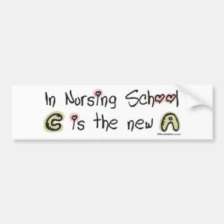 C es la nueva A en escuela de enfermería Pegatina Para Auto