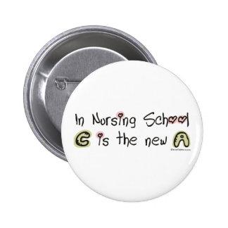 C es la nueva A en escuela de enfermería Pin Redondo De 2 Pulgadas