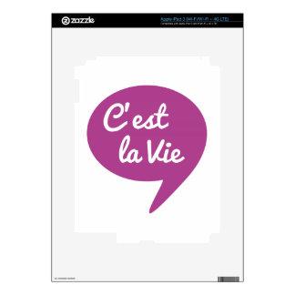C est la vie that s life french word art text iPad 3 skin