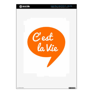 C est la vie that s life french word art text skins for iPad 3