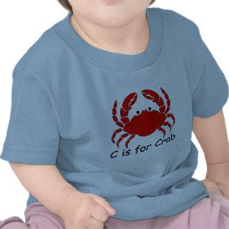 C está para el cangrejo camisetas