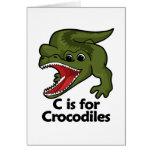 C está para el cocodrilo tarjeton