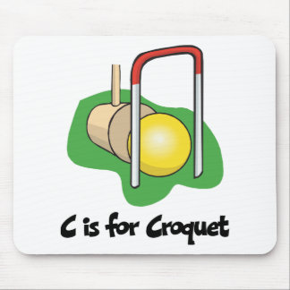 C está para el croquet tapetes de raton