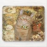 C está para el gato - gato de Tabby Mousepad Alfombrillas De Ratones