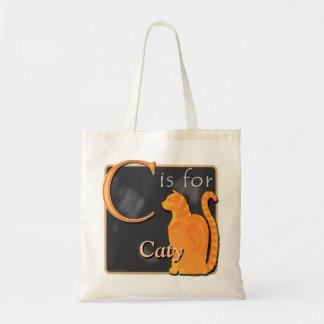 C está para el gato que C está para Caty Bolsa Tela Barata