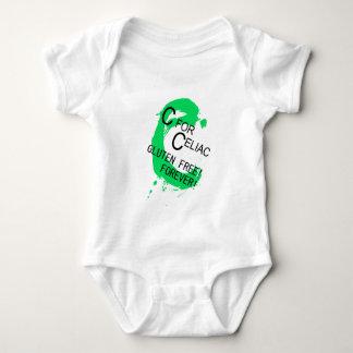 C está para el gluten celiaco libre para siempre body para bebé