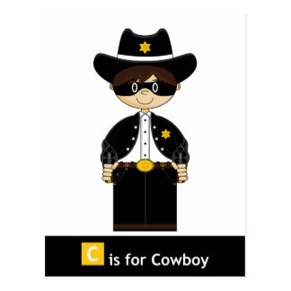 C está para el Gunslinger enmascarado vaquero Tarjetas Postales
