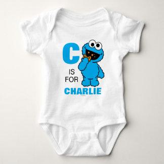 C está para el monstruo de la galleta body para bebé