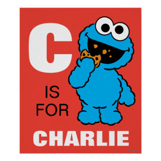 C está para el monstruo de la galleta que los | póster