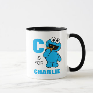 C está para el monstruo de la galleta que los | taza