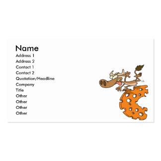 c está para el personaje de dibujos animados diver plantillas de tarjetas personales