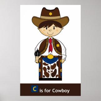 C está para el poster del vaquero