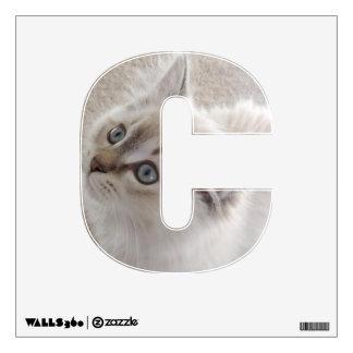 C está para la etiqueta de la pared del gato vinilo adhesivo
