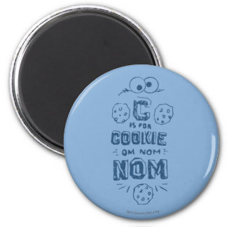 C está para la galleta imán redondo 5 cm
