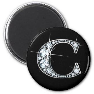 """C"" Faux-""Diamond Bling"" Magnet"