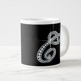 "C Faux-""Diamond"" Monogram Cup"
