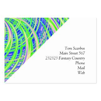(c) feliz, verde tarjetas de visita grandes