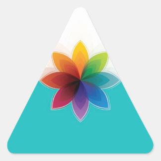 c flower triangle sticker