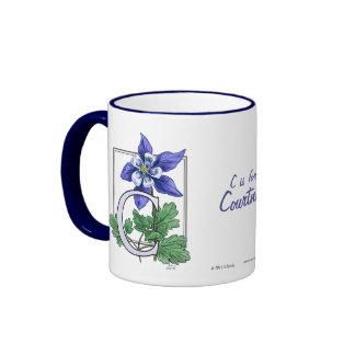 C for Columbine Flower Monogram and Name Mug