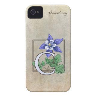 C for Columbine Flower Monogram Case-Mate iPhone 4 Case