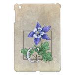C for Columbine Flower Monogram Case For The iPad Mini