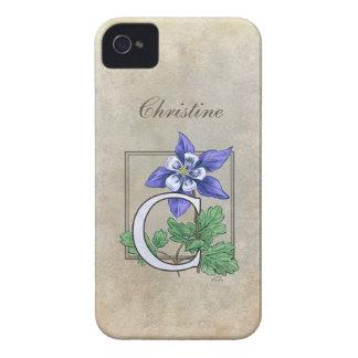 C for Columbine Flower Monogram iPhone 4 Case-Mate Case