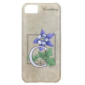 C for Columbine Flower Monogram iPhone 5C Cover