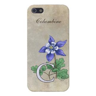 C for Columbine Flower Monogram iPhone SE/5/5s Cover