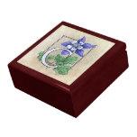 C for Columbine Flower Monogram Trinket Boxes