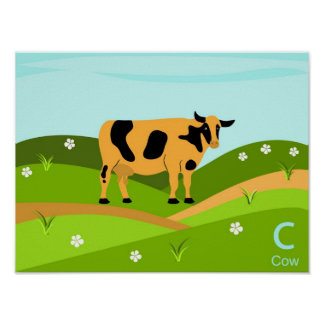 C for cow Poster