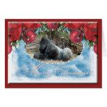 c-gorilla-176 greeting card