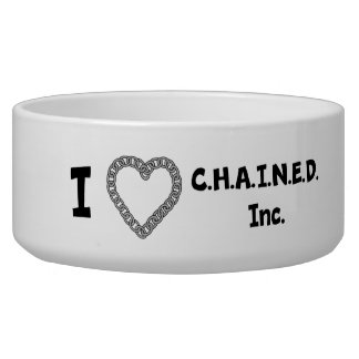 C.H.A.I.N.E.D. Inc. Dog Bowl