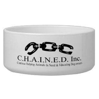 C.H.A.I.N.E.D. Inc. Logo Dog Bowl